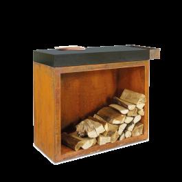 OFYR Butcher Block Storage 90 Corten Keramik Dunkelgrau