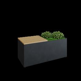 OFYR Herb Garden Bench Black