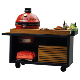 OFYR Kamado Table Black 135 PRO Teakholz KJ