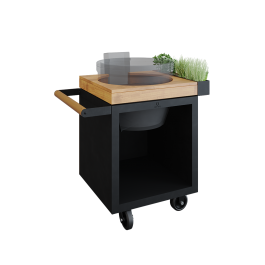 OFYR Kamado Table Black 65 PRO Teakholz KJ